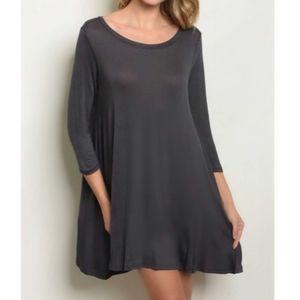 ❤ NWT Charcoal Lightweight Tunic Dress/Top